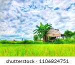 farmers living in nature. | Shutterstock . vector #1106824751