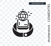 smartwatch vector icon isolated ... | Shutterstock .eps vector #1106824781
