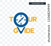 tour guide vector icon isolated ...   Shutterstock .eps vector #1106824949
