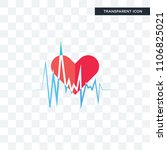 heartbeat vector icon isolated... | Shutterstock .eps vector #1106825021