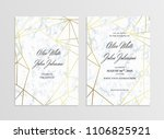 invitation card template of... | Shutterstock .eps vector #1106825921