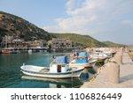 assos ancient harbor | Shutterstock . vector #1106826449