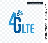 4g lte vector icon isolated on... | Shutterstock .eps vector #1106827775