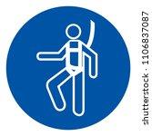 wear safety harness symbol ... | Shutterstock .eps vector #1106837087