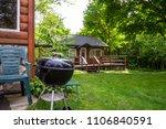 cabin charcoal grill green... | Shutterstock . vector #1106840591