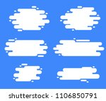 set of flat style abstract... | Shutterstock .eps vector #1106850791