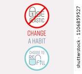 typographic design of stop... | Shutterstock .eps vector #1106859527