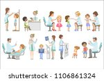 kids on medical examination | Shutterstock .eps vector #1106861324