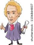 johann christian andreas doppler | Shutterstock .eps vector #1106864837