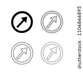 vector arrow icon illustration  | Shutterstock .eps vector #1106866895