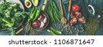 winter vegetarian  vegan food... | Shutterstock . vector #1106871647