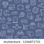 different types of holidays and ... | Shutterstock .eps vector #1106871731