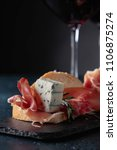 sandwich with prosciutto  blue... | Shutterstock . vector #1106875274