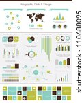 retro infographics set. world... | Shutterstock .eps vector #110688095
