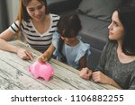 girl learning investment with... | Shutterstock . vector #1106882255