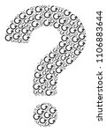 question mark composition... | Shutterstock .eps vector #1106883644