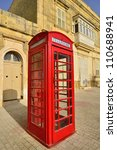 Traditional Red Phone Booth In...