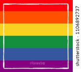 lgbt flag. rainbow love. vector ... | Shutterstock .eps vector #1106892737
