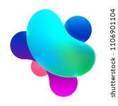 plastic colorful shapes. fluid... | Shutterstock .eps vector #1106901104