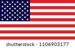 united states of america flag.... | Shutterstock .eps vector #1106903177