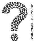 question mark composition... | Shutterstock .eps vector #1106903204
