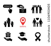 charity glyph icons set.... | Shutterstock .eps vector #1106903405
