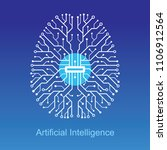 artificial intelligence... | Shutterstock .eps vector #1106912564