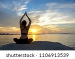 healthy good.  meditation yoga... | Shutterstock . vector #1106913539