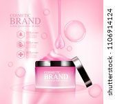 ads brand cosmetic mockup... | Shutterstock .eps vector #1106914124