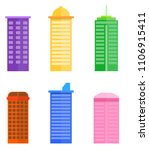 Colorful  Building Flat Vector...