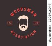lumberjack logo set. union of...   Shutterstock .eps vector #1106916044