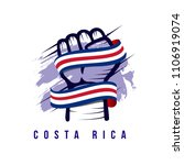costa rica hand and flag vector ... | Shutterstock .eps vector #1106919074