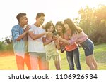 asian people look something at... | Shutterstock . vector #1106926934