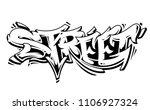 street graffiti vector... | Shutterstock .eps vector #1106927324