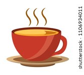 coffee cup hot fresh aroma on... | Shutterstock .eps vector #1106934011