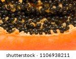 papaya background  half of... | Shutterstock . vector #1106938211