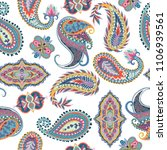 seamless paisley pattern.... | Shutterstock .eps vector #1106939561