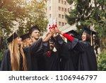 group of multiethnic graduate... | Shutterstock . vector #1106946797