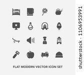 modern  simple vector icon set... | Shutterstock .eps vector #1106953991