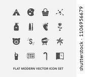 modern  simple vector icon set... | Shutterstock .eps vector #1106956679