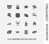 modern  simple vector icon set... | Shutterstock .eps vector #1106957861