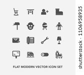 modern  simple vector icon set...   Shutterstock .eps vector #1106958935