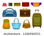 bags set on a white background | Shutterstock .eps vector #1106960321
