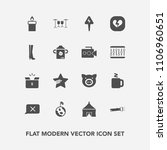modern  simple vector icon set... | Shutterstock .eps vector #1106960651
