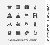 modern  simple vector icon set... | Shutterstock .eps vector #1106960654