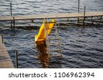 water slide in lake dock summer ...   Shutterstock . vector #1106962394
