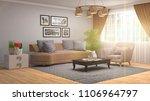 interior living room. 3d... | Shutterstock . vector #1106964797