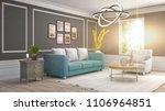 interior living room. 3d... | Shutterstock . vector #1106964851