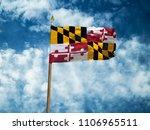maryland flag usa flag silk... | Shutterstock . vector #1106965511