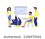 presentation of the project.... | Shutterstock .eps vector #1106970161